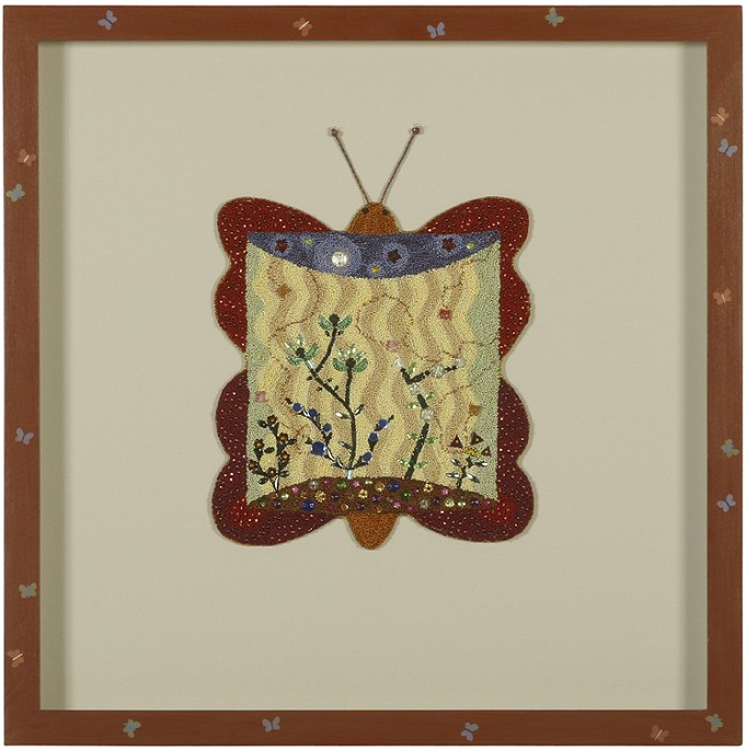 9 x 12 frame 20 12 x 20 12 flat silk cotton and rayon thread antique and other glass beads antique metallic cord